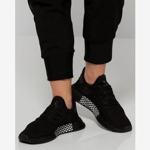 NEW Black Adidas Deerupt Sneakers Shoes